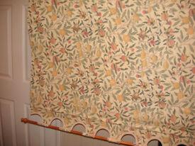 ROLLER BLIND WILLIAM MORRIS FRUIT & POMEGRANATE DESIGN for window size 234cm wide x 100cm drop