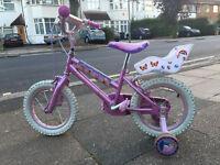 "Disney Princess 14"" wheel bike in excellent condition"