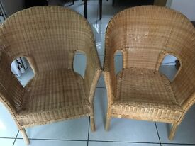 Two IKEA Wicker Chairs