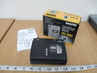 NEW Sanyo TRC-960C Silver Argent Compact Cassette Recorder/ Dictaphone