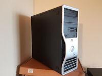 Dell Precision Workstation, Intel Core 2 Duo E6700, 500GB, 4GB RAM, Geforce 7600GS, Windows 10 Pro