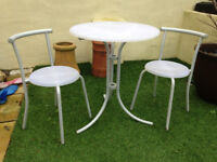 Bistro Garden Kitchen Table and Chairs Extra Christmas Dining Table