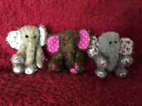 Adorable Handmade Mohair Elephants