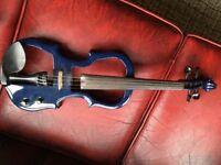 Electric violin 4/4 size, blue