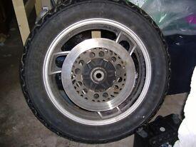 yamaha xj1200 rear wheel,tyre and disc