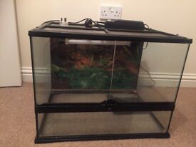 Large Exo Terra Vivarium - With Heat Mat and Light