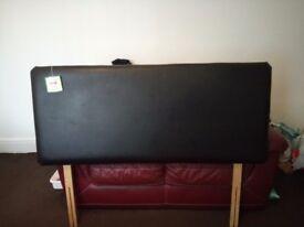 Black fire resistant leather head board