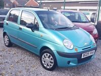 05 REG CHEVROLET MATIZ 1.0 LITRE VERY LOW MILES 48K