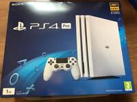 Top of the range PS4 PRO 1TB in white Warranty and Receipt