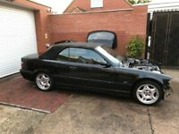 Used, BMW M3 E36 Evolution Convertible with Hardtop - Low Mileage Project COSMOS BLACK for sale  Nuneaton, Warwickshire