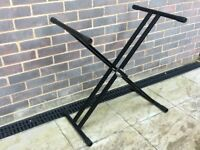 Double X frame keyboard stand