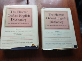 Shorter Oxford English Dictionary. 2 Vol. 1967