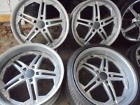 20inch finichi DEEP DISH staggered 5x120 range rover alloy wheels bmw x5 t5 vw