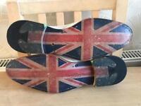 Oliver Sweeney UNION JACK White Leather Shoes (SIZE: 8) Asnew