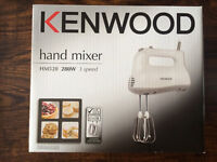 KENWOOD 3-Speed Electric Hand Mixer HM520, barely used and in original packaging