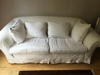Sofa Workshop White 3 Seater Sofa with cushions