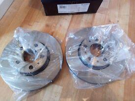 "Volvo V70 MK2 ""Pair of Front Wheel Brake Discs"" ""New"" £30"