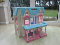 Fisher Price Large Dolls House with Family Figures and Furniture