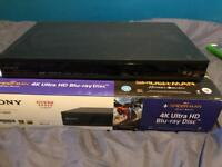 Sony 4K Bly Ray player