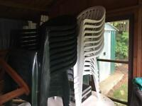 Plastic garden chairs. Hardly used