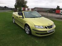 06 REG SAAB 9-3 2.0 T CERULEAN VECTOR 2DR-LOW MILES-FULL LEATHER-ELECTRIC ROOF-LONG MOT-DRIVES WELL