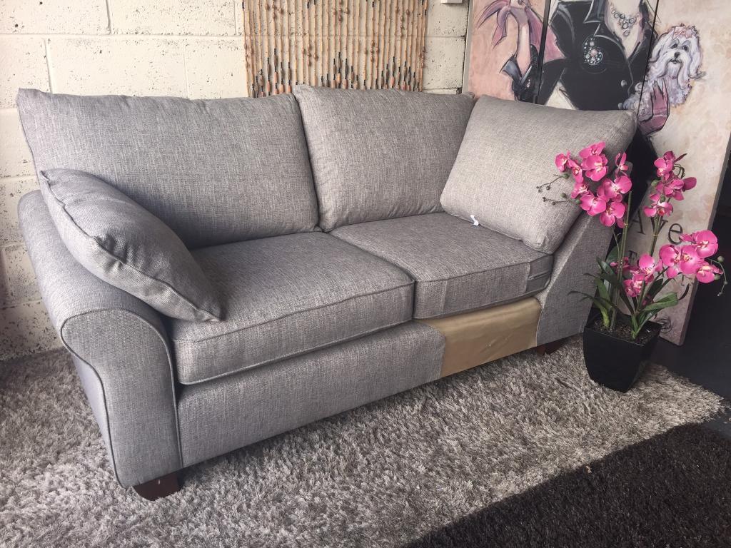 New Harvey S Cargo Grayson 3 Seater Corner Chaise Sofa In Shadow Grey Fabric