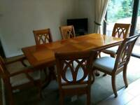 Ducal Dining Table & 6 Chairs