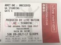 Two U2 concert tickets - Standing