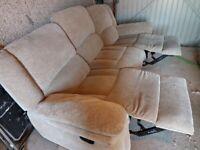 3 Seater Reclining sofa.