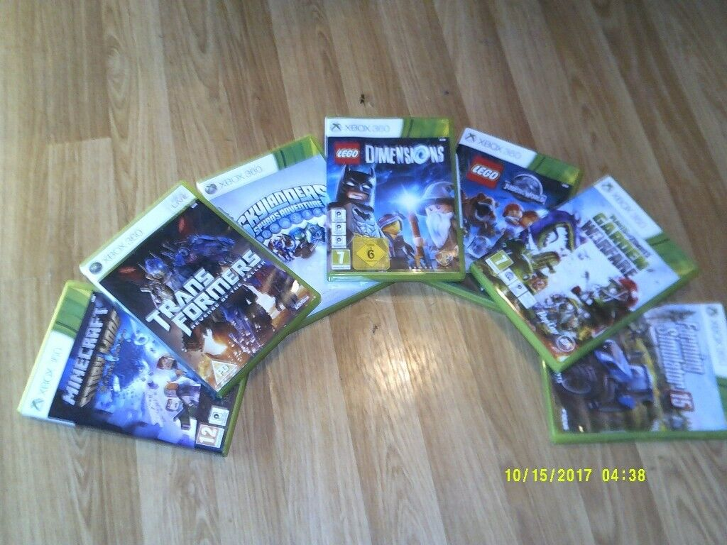 7 xbox 360 video games all 7 for £20.All games do not come with components needed