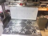 5 Burner Commercial Cooker with solid Top
