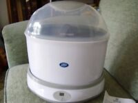 BOOTS ELECTRIC STEAM STERILISER No tablets or chemicals required.