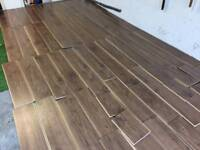 WALNUT FINISH EASY FIT LAMINATE FLOORING PLANKS AS NEW FREE EDINBURGH DELIVERY