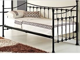 Brand New Black Metal Day Bed with Mattress