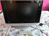"Wharfdale 19"" TV and remote"