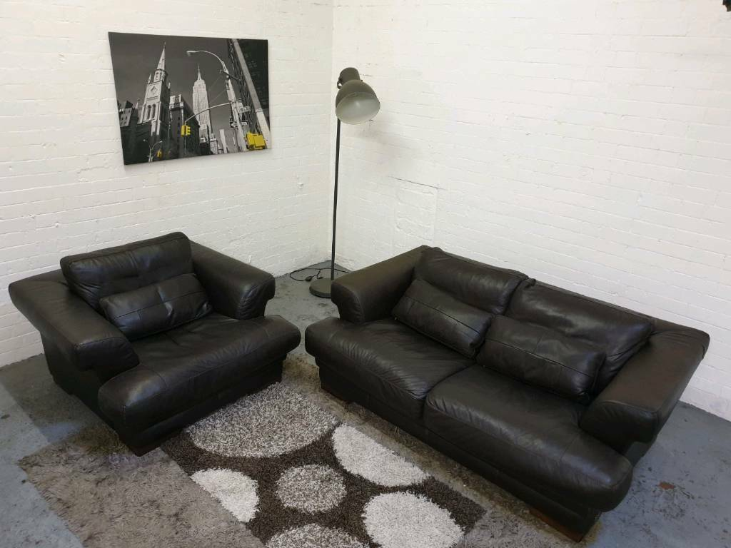 Fantastic Giovanni Sforza Italian Leather Sofa Set In Eccles Manchester Gumtree Ocoug Best Dining Table And Chair Ideas Images Ocougorg