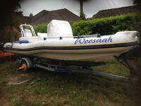 Rib boat marlin