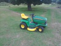 John Deere LT166 tractor mower with mulch deck. FREE DELIVERY*