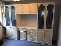 Double Wardrobe with Dressing Table and Bedside Table..
