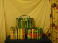 100% recycled materail hand made baskets