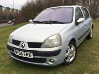 Renault Clio 1.2 2004 + SERVICE HISTORY + MOT TILL AUGUST 2017 + LOVELY DRIVE