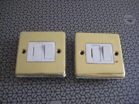 2 x Brass Isolator switches