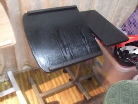 BLACK PORTABLE LAPTOP TABLE OVER BED/CHAIR