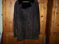 Gents suede / leather 3/4 coat