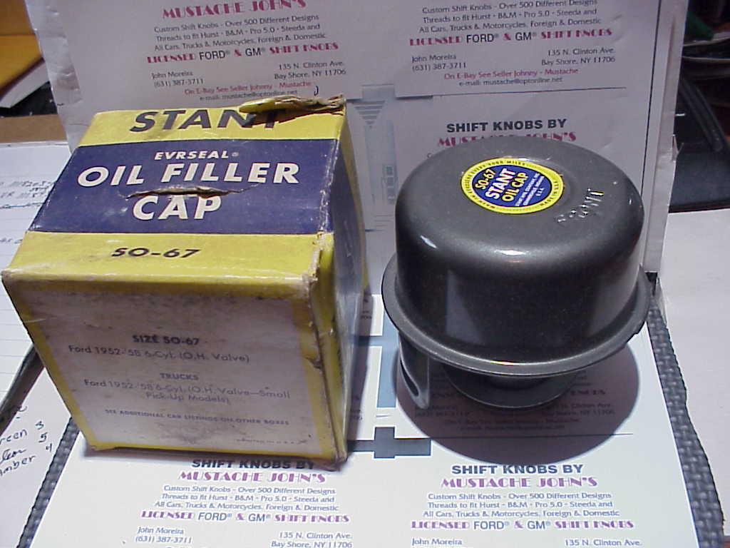 NOS Stant Oil Filler Cap 1952-1960 Ford 6 Cyl, 1952-1958 Ford Truck 6 Cyl