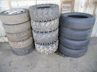 4 QUAD TYRES, 5 RALLY/TRACK DAY TYRES/ 4 KUMHO TYRES
