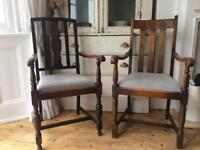 2 carver dining chairs