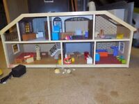 Lundby Dolls House with removable front and furniture included