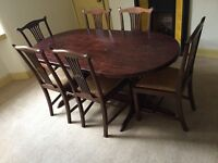 Dining Table & Six Chairs (Wood)