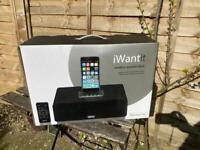 Unused boxed iPhone iPad dock radio docking statioN IWANTIT IBTL17